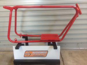 red-mini-bike-frame