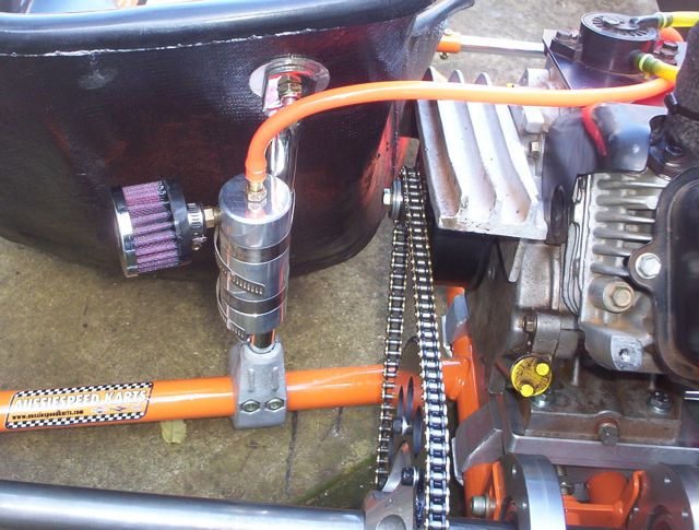 go kart motor vacuum to run the fuel pump where is best
