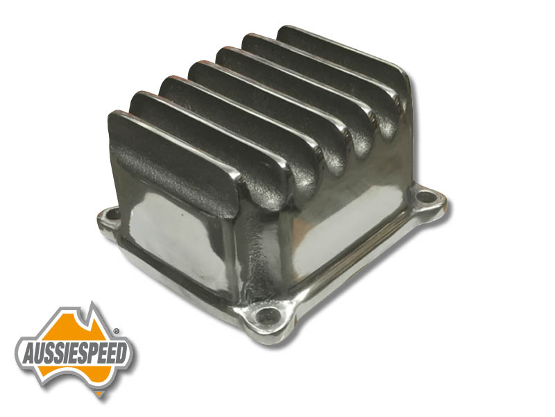 Hemi Predator polished finned aluminum valve cover AS0469p